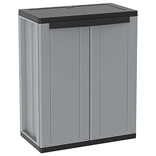 Terry 1002821jline68Cabinet 2Doors with 1Adjustable Shelf, Grey
