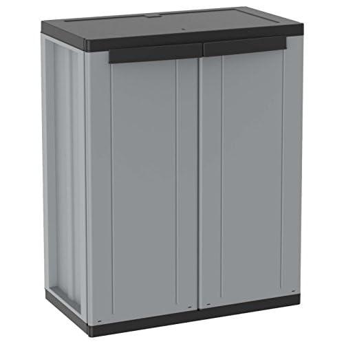 Terry 1002821 J-LINE 68 Plastic cabinet, 68 x 37.5 x 85 cm, Grey