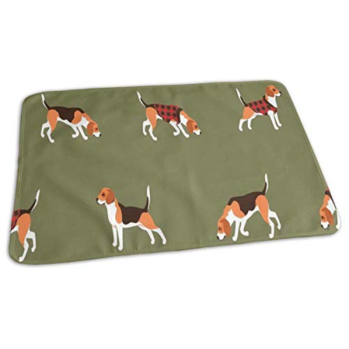 Bikofhd Beagle Buffalo Plaid Baby Reusable Changing Pad Portable Changing Mat -