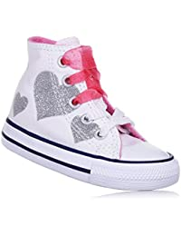 Converse Scarpe Sneakers Chuck Taylor All Star Hi Bambine Bianco 760971C-WHITE/H