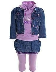 Niños Bebé Niña Kleiodung Paquete Set 4 piezas Camiseta T-Shirt Chaqueta Falda Leggings 20329