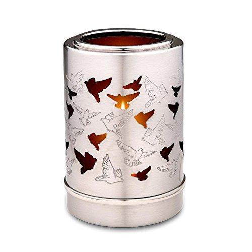 Verbrennung Asche Miniatur-Urne–Kerzenhalter Andenken (Tauben)