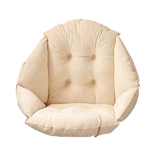 Peluche suave carcasa silla cojín asiento silla de comedor de jardín, Pad oficina cintura apoyo, beige, 4 concaves