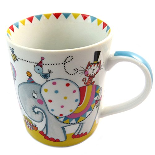 Les Trésors De Lily P4191 - Mug porcelaine 'Circus' beige multicolore