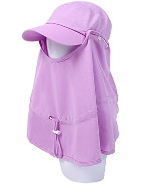 estate femminile Coprire la faccia cappello di Sun all'aperto Protezione solare berretto Anti-UV pieghevole sunhat...