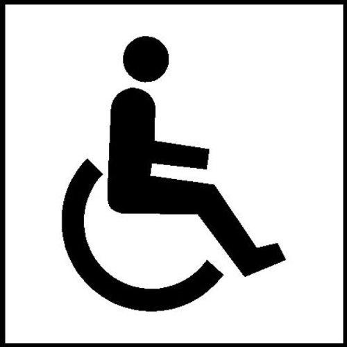 Symbolschilder zur Raumkennzeichnung selbstklebend, selbstkl. Folie ,10x10cm Version: 13 - Behindertentoilette