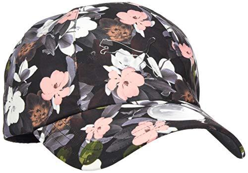 PUMA Damen Ws Style BB Cap Black-floral AOP, Adult