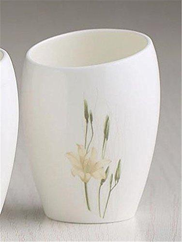 MIWANG Einfache Knochen Zähneputzen Zahnbürste Becher Keramik Schale, waschen Sie Gurgeln Cup Cup kreative Yagang Liebhaber, gelbe Seerose (Glas)