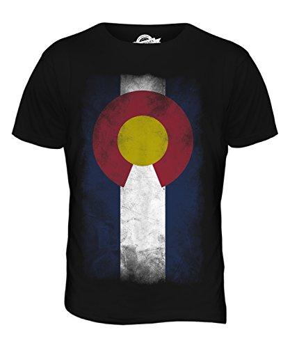 CandyMix Bundesstaat Colorado Verblichen Flagge Herren T Shirt Schwarz