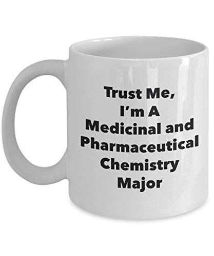 VTYOSQ Trust Me, I'm A Medicinal and Pharmaceutical Chemistry Major Mug - Funny Coffee Cup - Cute Graduation Gag Gifts Ideas for Friends and Classmates (11oz)