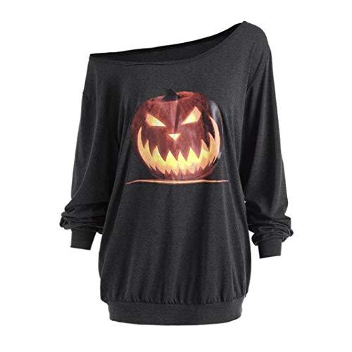 ITISME TOPS Frauen mit Kapuze Halloween Kürbis Tasche Kordelzug Gedruckt Hoodie Sweatshirt Tops
