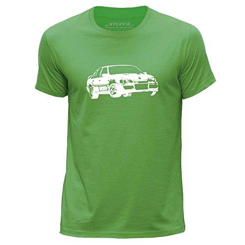 STUFF4 Herren/XX groß (XXL)/Grün/Rundhals T-Shirt/Schablone Auto-Kunst / Lotus Omega -