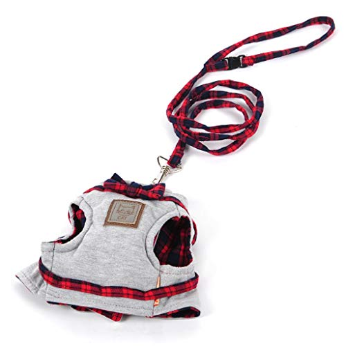 QZ Pet Leine, Cat Seil Strick Tuch Cat Traction Heimtierbedarf Slip Cat Rope Cat Kette Zugseil Set Baumwolle Cat Strap (Farbe : Red) -