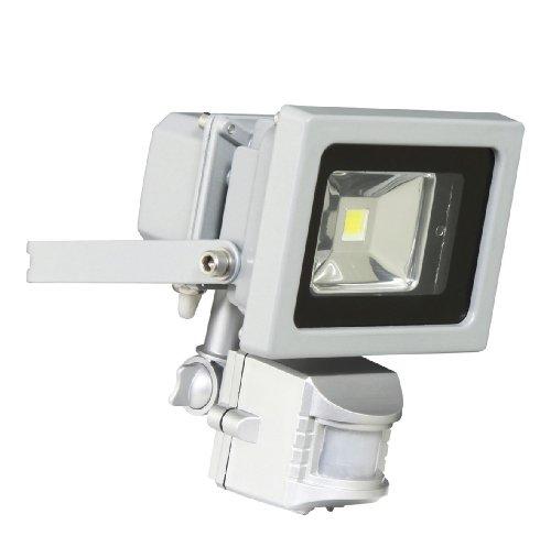 XQ-lite XQ1162 Riflettore LED con Sensore Esterno, Acciaio, Grigio, 10