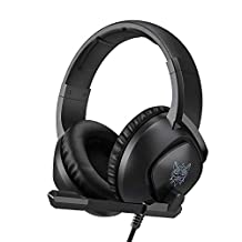 Gaming Headset for Xbox One, PS4,Nintendo Switch, PC with Mic - Surround Sound, Noise Reduction Game Earphone, Mute Switch- 3.5MM Jack for Cell Phone, Laptops, Computer (Black)