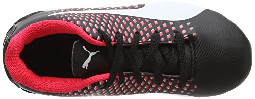 Puma Adreno Iii Fg Jr, Chaussures de Football Mixte Enfant Noir (Puma Black-puma White-bright Plasma 02)