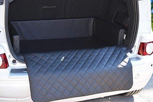 Autoschondecke - Kofferraum Schutzdecke - Auto - Hundebett in Schwarz Kunstleder
