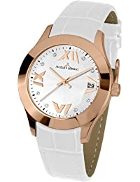 Jacques Lemans Damen-Armbanduhr Rome Analog Quarz Leder 1-1766B