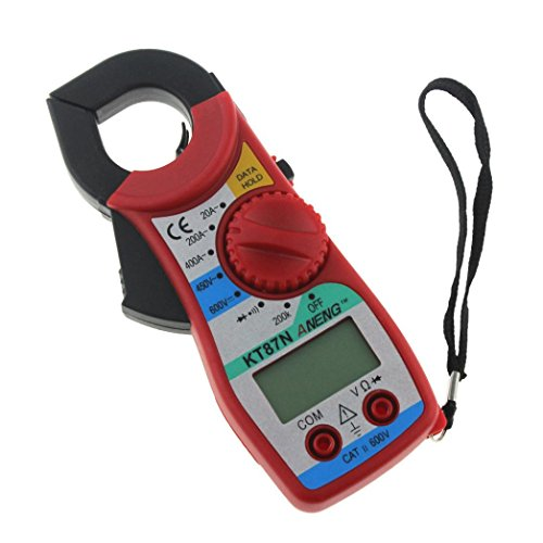 Multimeter Digital, Hunpta@ ANENG KT87N Digital LCD AC/DC Handmultimeter Volt Amp Ohm Test Clamp Meter (Rot) (Amp Clamp)