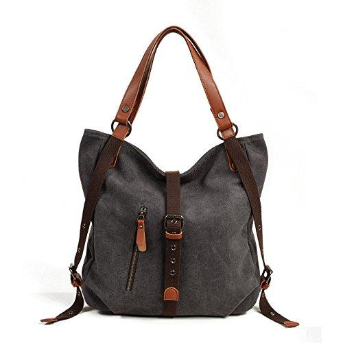 Große Hobo Geldbörsen (DCRYWRX Umhängetaschen Für Frauen Große Hobo Bag Eimer Geldbörse Canvas Umhängetasche Umhängetasche,Grey)