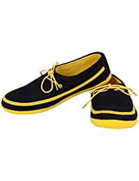 Scarpess Men's Air Mesh Casual Shoes (Scps1071-Black/Yellow-42)