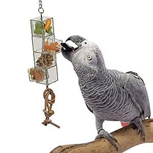 HappyBird ® | HÄNGE FUTTOMAT XTRA mit 2 Schubladen und 2 Öffnungen für Papageien
