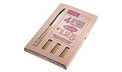 Opinel - Bon Appetit Table Knives Set Of 4 Number 125 - Olive Wood Handles