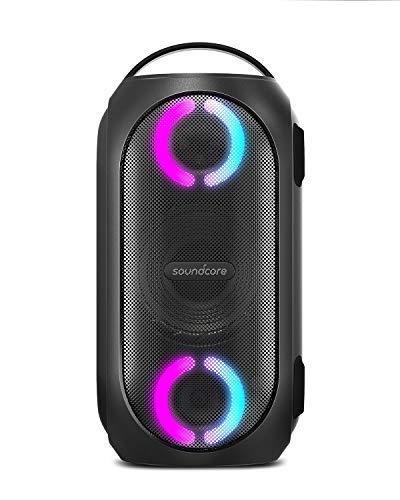 Speaker da party portatile Anker Soundcore Rave Mini, potente suono a 80 W, impermeabilità totale, caricabatterie USB, spettacolo di luci a ritmo, app, giochi, parcheggio party, spiaggia, campeggio