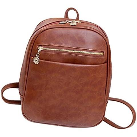 Clode® Mochilas mujer viaje escolar Mochila femenina del bolso de cuero de moda