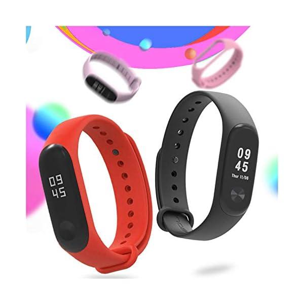 Madozon 13 Piezas Correas para Xiaomi Mi Band 3 /Mi Band 4 Pulsera Reloj Silicona Banda para Mijia Mi Band 4-13 Colores 2