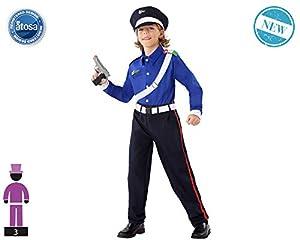 Atosa-61648 Atosa-61648-Disfraz Policia-Infantil Niño, Color azul, 10 a 12 años (61648