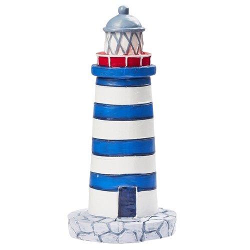 Preisvergleich Produktbild Leuchtturm blau/weiss ca. 7,5 cm