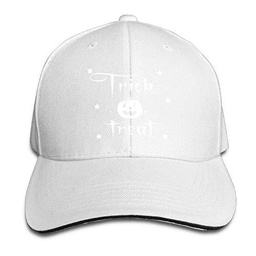 cvbnch Baseball Caps für Herren/Damen,Unisex Trick Treat Halloween Trucker Cap Adjustable Peaked Sandwich Cap Unique Hiking Hats