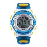 Xmansky Reloj despertador multifuncional para niños Reloj deportivo impermeable Reloj deportivo de moda, azul
