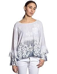 Abbino IG013 Blusas Tops para Mujer - Hecho EN Italia - Colores Variados - Mujeres Entretiempo