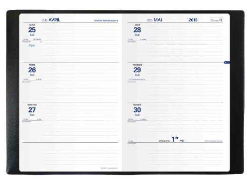 Quo Vadis Texthebdo French Diary - 13 August 2013 - 15 August 2014, 16cm x 24cm, Assorted Colours