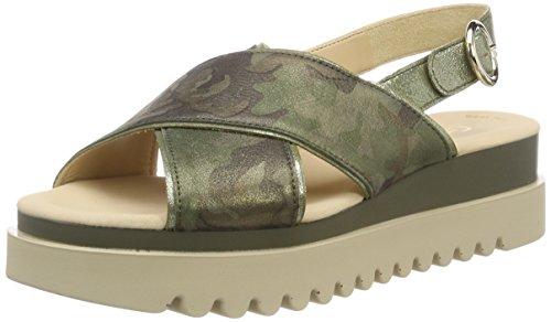 Gabor Shoes Damen Jollys Riemchensandalen, Grün (Oliv Kombi), 38 EU -