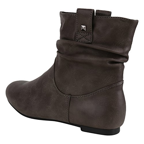 Slip Stivaletti Invernali Napoli Fibbia Boots Grigio Grigio fashion Jennika Donna on Foderata RHw0Eq