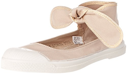 Bensimon Tennis Flo Shinypiping, Baskets Basses Femme Beige (Beige Coquille)