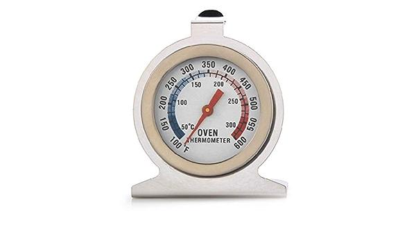 RoxTop Kochen Lebensmittel Fleisch Zifferblatt aus Edelstahl Backofenthermometer Temperaturanzeige K/üche Ofen Thermometer misst Start Koch Supplies