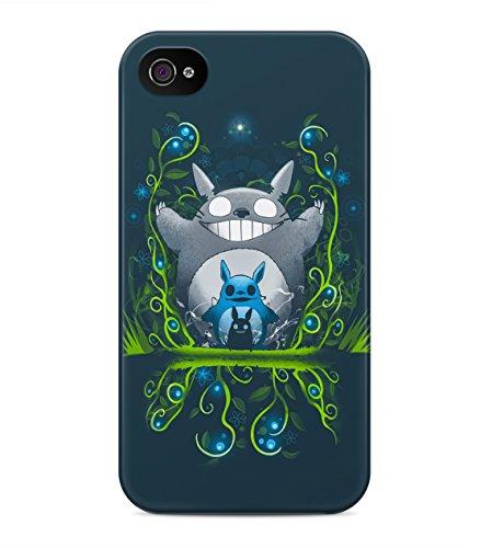 My Neighbor Totoro Trippy Wonderland Hard Plastic Snap On Back Case Cover For iPhone 4 / 4s Custodia
