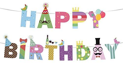 appy Birthday Girlande, Party Set Deko Zubehör, Geburtstag 1, 3, 18, 30, 40, 50 (40 Geburtstag Gefälligkeiten)