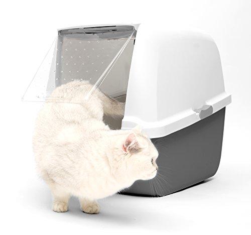 Catit Magic Blue - Gabbietta per Gatto con Coperchio e Filtro