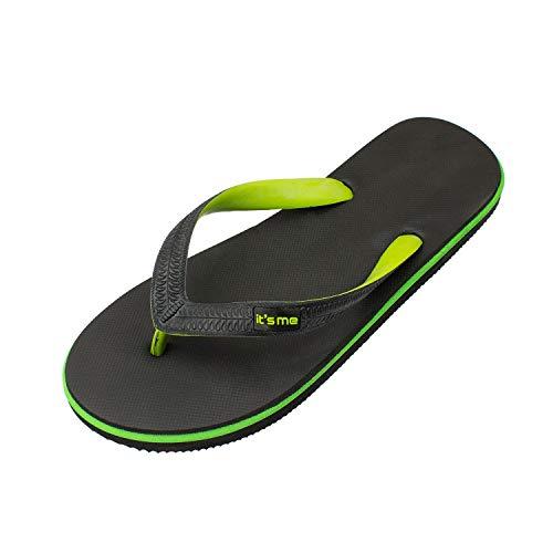 it's me Flip Flops Herren | die weichsten Flip Flops Aller Zeiten | 100% Naturkautschuk | Breiter Stil (1 cm Breiter) | schadstofffrei | 0% PVC