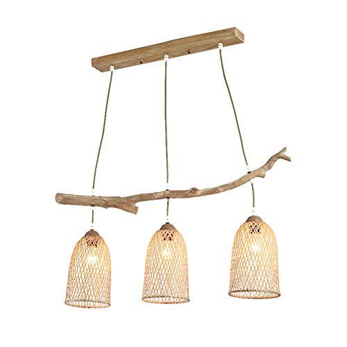 Bambus kronleuchter, neue Chinesische Zen tee zimmer B & B lampen Chinesischen stil kreative persönlichkeit äste bambus handgewebte gewebte deckenleuchte (E27)