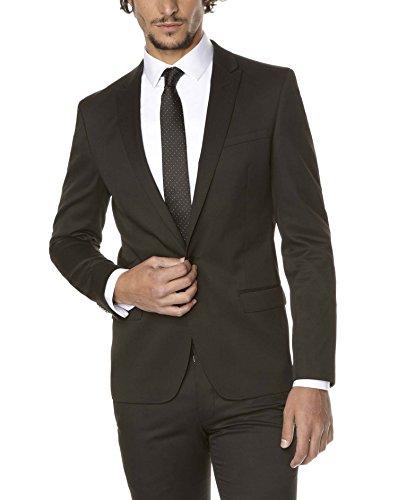 Celio Tuskinny Veste de Costume, Noir, Taille Fabricant: 44 Homme