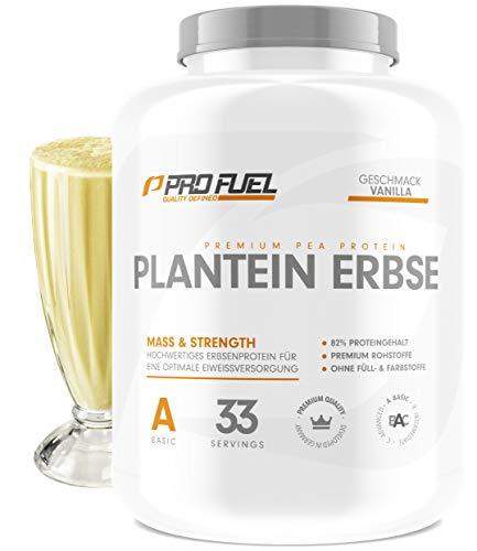 Profuel Hochwertiges Erbsenprotein Pulver, Vegan, Vanille, 1er pack (1 x 1 Kg)