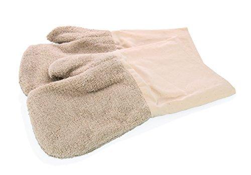 My-Gastro hochwertiger Baumwoll Handschuh extrem hitzebeständig bis 350°C waschbar Ofenhandschuh Topflappen Backofen 2 Stück