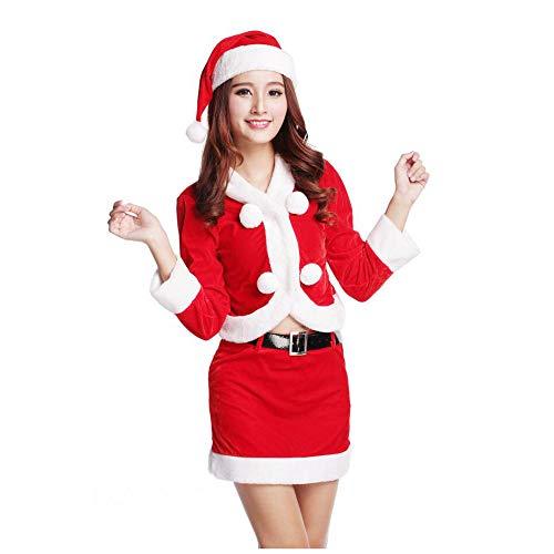 Yunfeng weihnachtsmann kostüm Damen Weihnachten-Uniform verführt sexy rote -