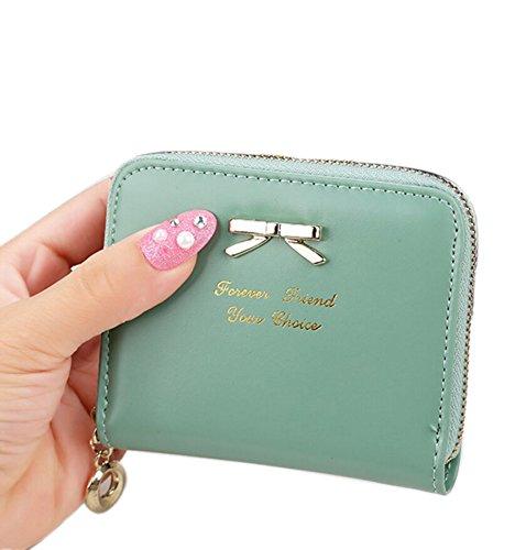 Portafoglio in Pelle Raccoglitore Donna Carta Borsa Arco Signore Portamonete Porta Documenti verde
